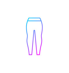 Leggings gradient linear icon vector