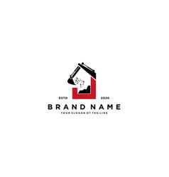 Letter j excavator logo design vector