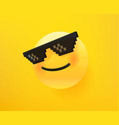 like a boss emoticon 3d comic style editable vector image