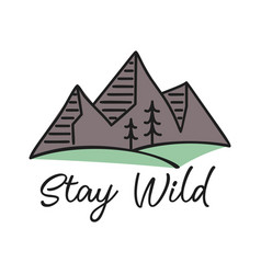 logo mountains and valley isolated vector image