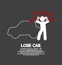 Lose Car Concept Graphic Symbol vector