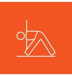 Man practicing yoga line icon vector image