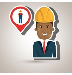 man worker isolated icon design vector image