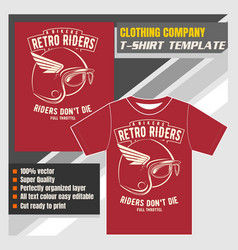 mock up clothing company t-shirt templatebikers vector image