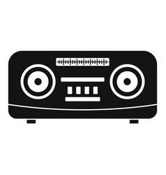 modern radio icon simple style vector image
