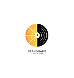 Music and fruit logo design and fruit vector
