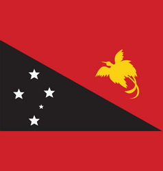 papua new guinea flag for independence day and vector image