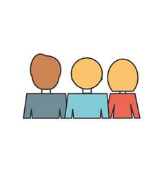 people back view cartoon vector image