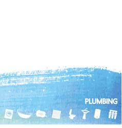 plumbing repair and service banner vector image