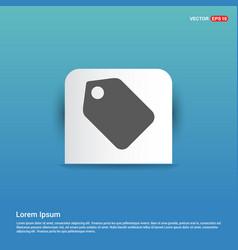Price tag icon - blue sticker button vector