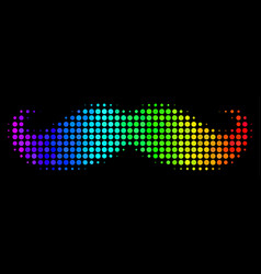 Rainbow colored dot gentleman moustache icon vector