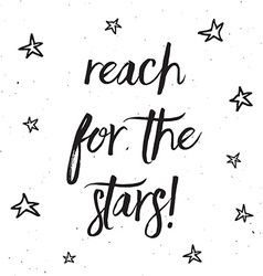Reach for the stars typography design 0403 vector