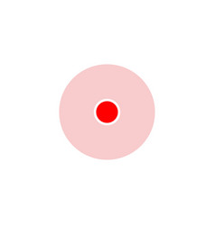 red round location icon isolated on background vector image