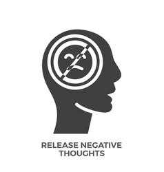 Release negative thoughts glyph icon vector