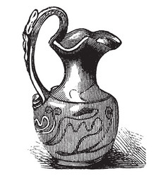 Roman vase was produced in enormous quantities in vector