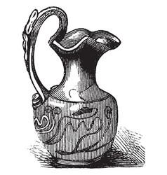 Roman vase was produced in enormous quantities vector