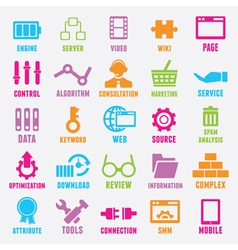 Set of seo and internet service icons - part 2 vector image
