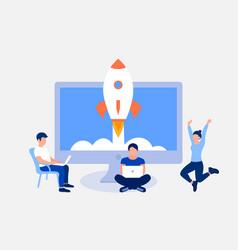 Startup design concept vector