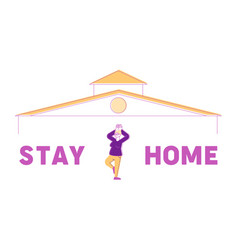 Stay home concept calm senior female character vector