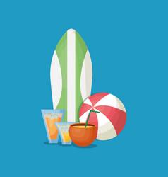 summer time design vector image