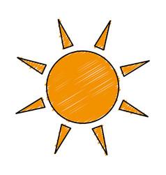 Sun ecology symbol icon vector