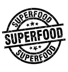 Superfood round grunge black stamp vector