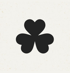 Three leaf clover icon vector