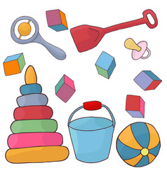 Toys for baby plaything for children vector