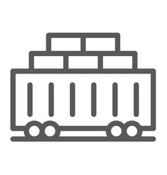 train cargo line icon transport and logistics vector image
