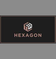 uw hexagon logo design inspiration vector image