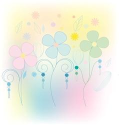 Vintage floral beautiful background vector