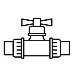 Water irrigation tap icon outline style vector