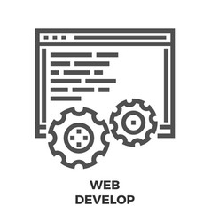 Web develop line icon vector