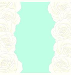 white rose border vector image