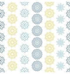 Yellow gray abstract mandalas striped seamless vector
