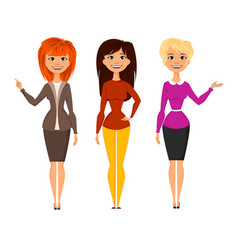 Young pretty women vector