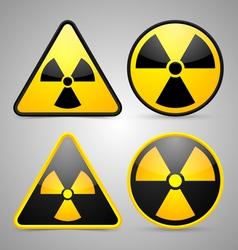Nuclear symbols vector image