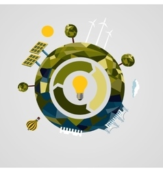 Renewable power concept Alternative energy vector image
