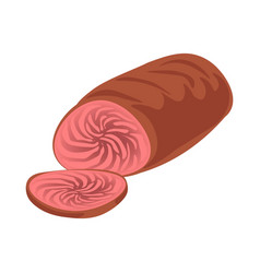 Cooked sliced meat vector
