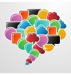 Social media bubbles in communication speech vector image vector image