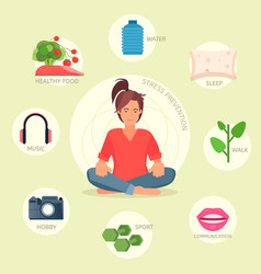 stress prevention infographic vector image
