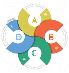 Creative round design template for infographics vector image vector image