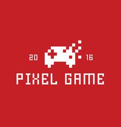 Joystick Pixel game flat style vector image