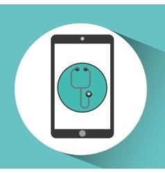 medical health application stethoscope design vector image vector image
