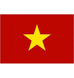 vietnamese flag vector image vector image