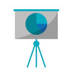 Business presentation chart finance board vector