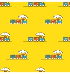 cartoon toy seamless pattern Little steam vector image