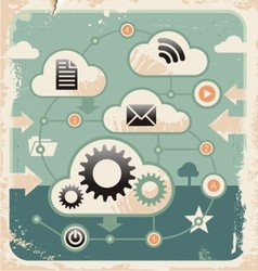 Creative concept of cloud computing connections vector image vector image