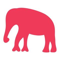 Cute beautiful safari Africa elephant silhouette vector image vector image