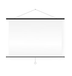 empty white board presentation conference vector image